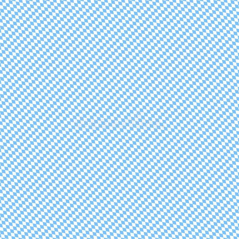 Pequeno branco diagonal sem emenda de Octoberfest Diamond Pattern Light Blue And ilustração do vetor