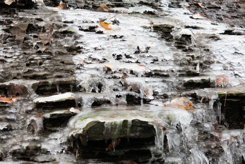 Pequeno inverno de pedra no rio Fed foto de stock