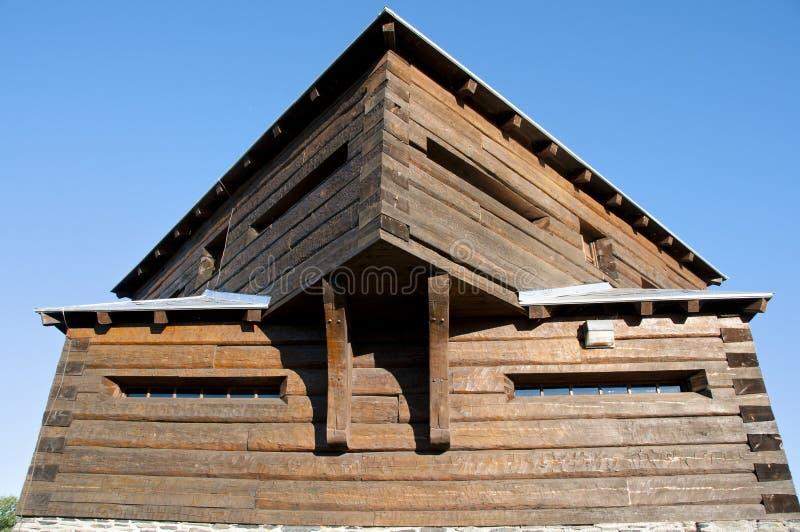 Pequeno Sault Blockhouse histórico - Edmundston - Novo Brunswick imagem de stock royalty free