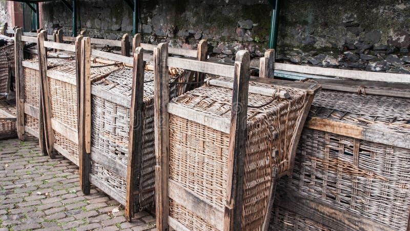 Pequeno trenó de madeira de Madeira imagens de stock royalty free