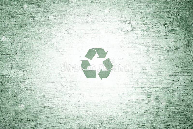 Pequenos conceptuais verdes do Grunge reciclam o fundo do símbolo ilustração do vetor