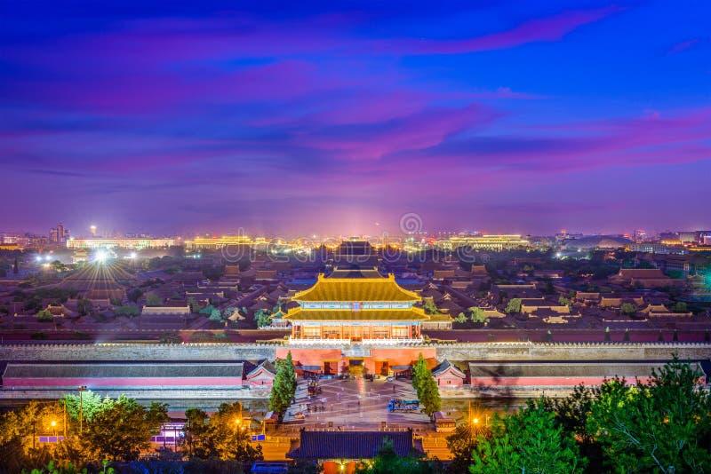 Pequim, China a Cidade Proibida fotos de stock