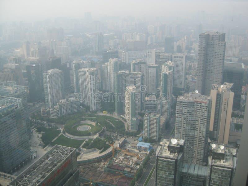 PEQUIM, CHINA - 28 de agosto de 2011, a vista na skyline o do Pequim imagens de stock royalty free