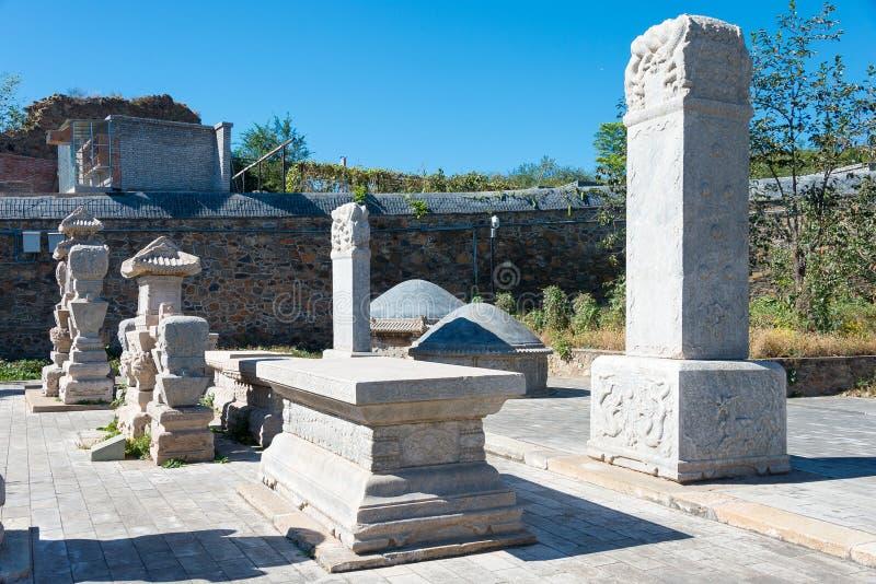 PEQUIM, CHINA - 12 de outubro de 2015: Túmulo de Tianyi (túmulo do eunuco) um famoso imagens de stock