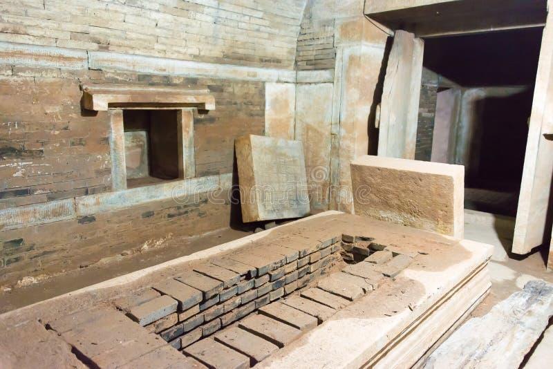 PEQUIM, CHINA - 12 de outubro de 2015: Túmulo de Tianyi (túmulo do eunuco) um famoso fotos de stock royalty free