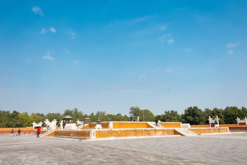 PEQUIM, CHINA - 18 de outubro de 2015: Templo da terra (Ditan) um famoso foto de stock