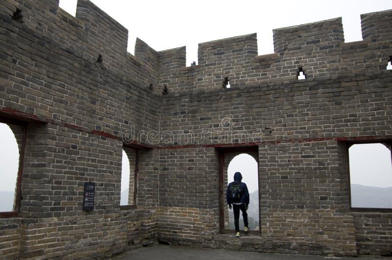 Pequim Jinshanling da torre do Grande Muralha foto de stock royalty free