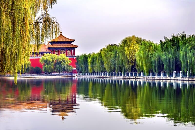 Pequim meridiano China do palácio de Gugong a Cidade Proibida da porta fotos de stock