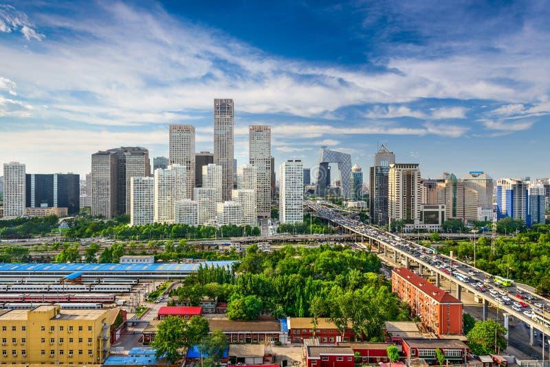 Pequim, skyline de China fotografia de stock royalty free