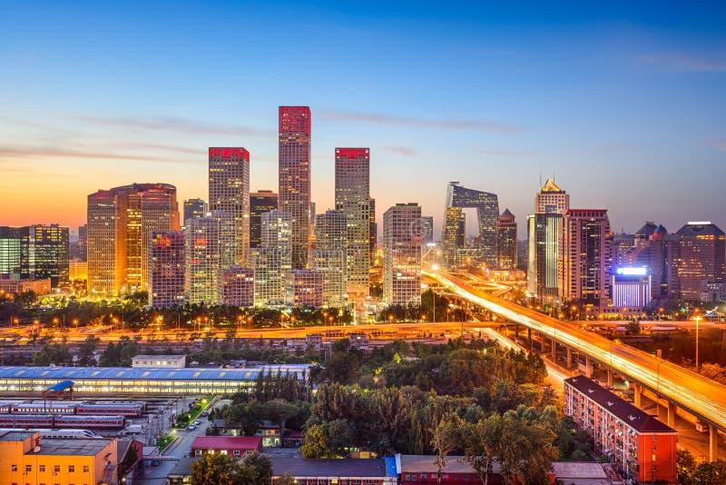 Pequim, skyline de China CBD imagens de stock
