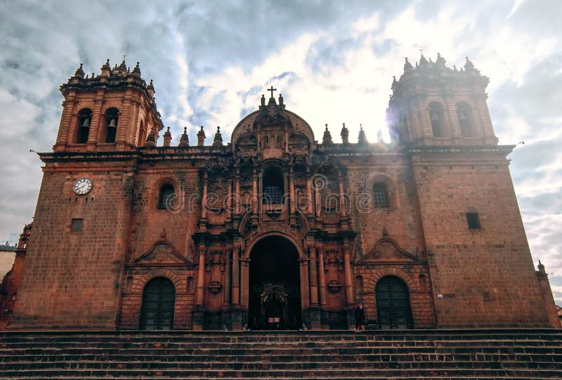 Perú Catedra de cusco стоковое фото rf