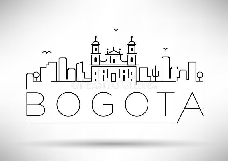 Perímetro urbano projeto tipográfico de Bogotá da silhueta ilustração royalty free