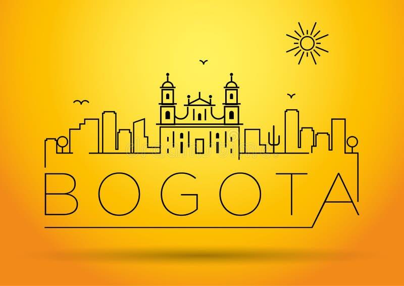 Perímetro urbano projeto tipográfico de Bogotá da silhueta ilustração stock