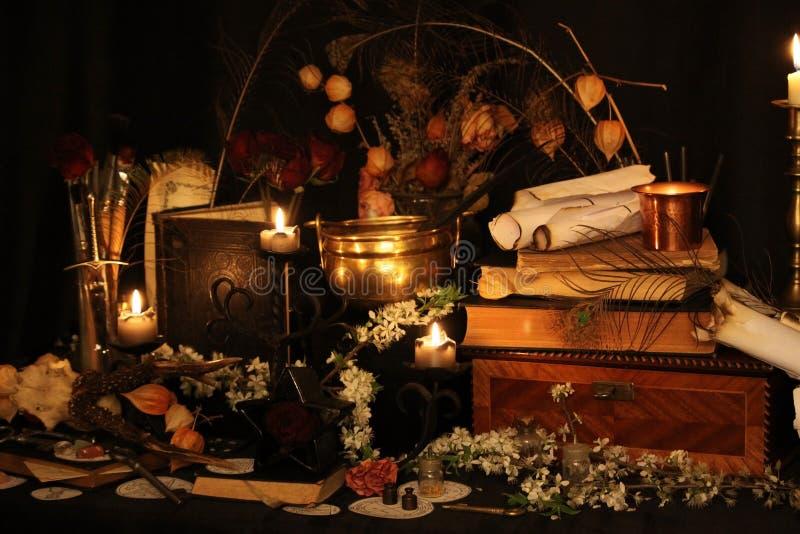 Períodos de magia negra Períodos de Wiccan fotografia de stock royalty free