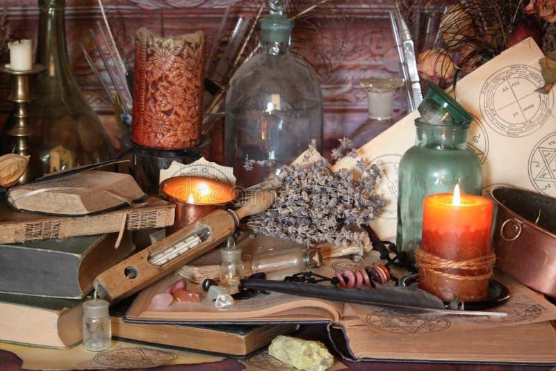 Períodos de magia negra Períodos de Wiccan fotografia de stock
