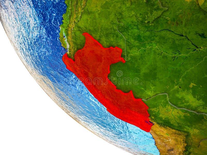 Perú en la tierra 3D ilustración del vector