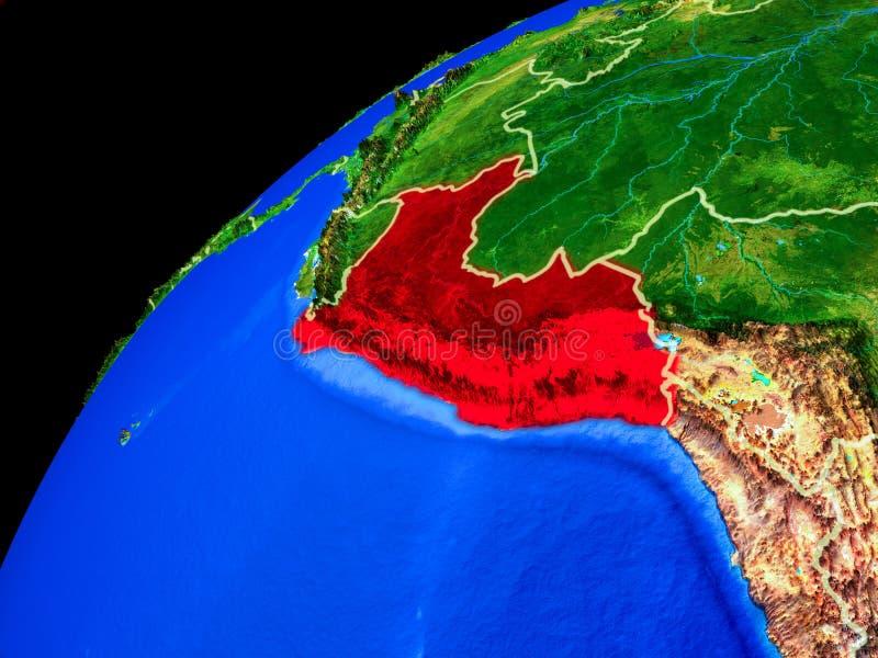 Perú en la tierra del espacio stock de ilustración