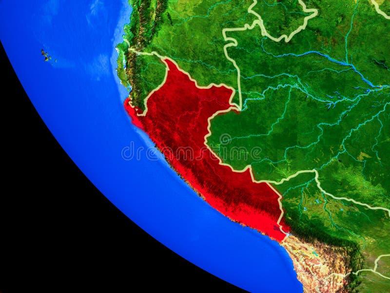 Perú en la tierra del espacio ilustración del vector