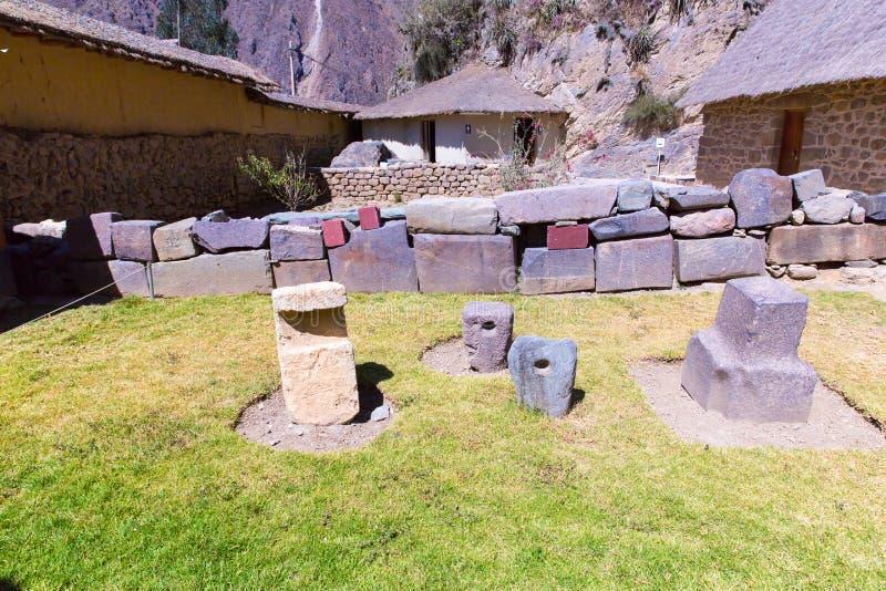 Perú, ruinas del Ollantaytambo-inca del valle sagrado en las montañas de los Andes, Americ? del sur foto de archivo libre de regalías