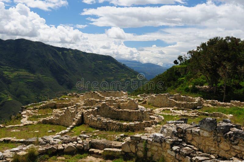 Perú, sitio arqueológico de Kuelap cerca de Chachapoyas foto de archivo libre de regalías