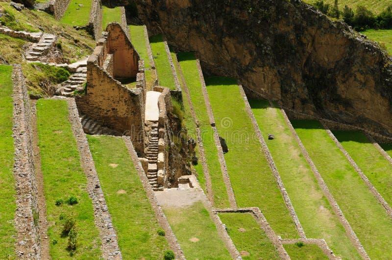 Perú, valle sagrado, fortaleza del inca de Ollantaytambo fotos de archivo