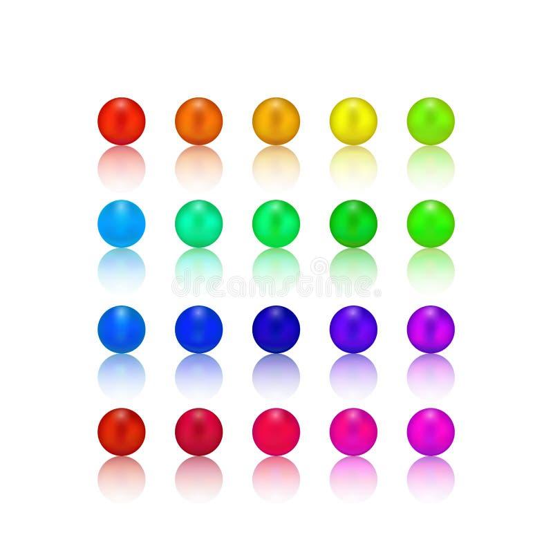 Perła, cukierku kolorowy set ilustracji