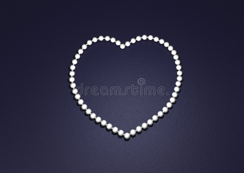 perła serce royalty ilustracja