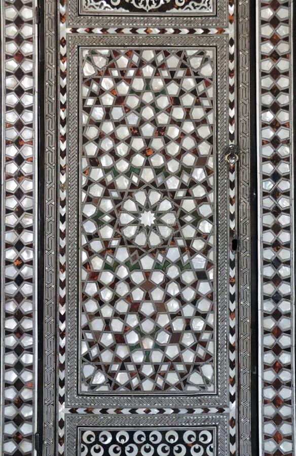 Perłowiec intarsja na ścianie, Topkapi pałac, Istanbuł, Turcja fotografia royalty free