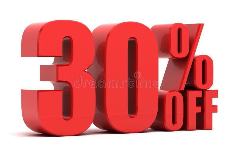 30 per cento fuori dalla promozione illustrazione di stock