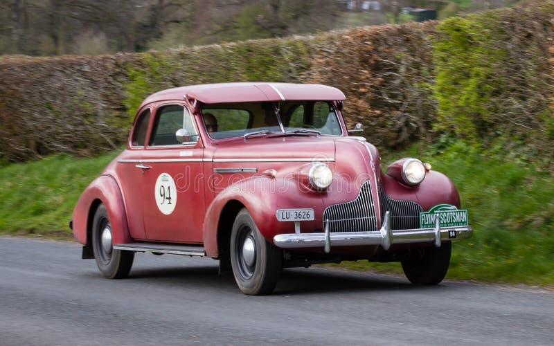 Per eeuw van Buick van 1939 in Cumbria, Engeland stock afbeelding