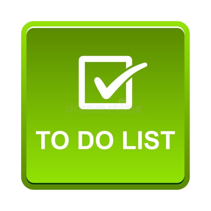 per fare il bottone della lista illustrazione di stock