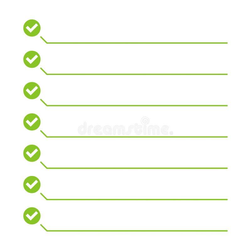 per fare vettore della lista illustrazione vettoriale