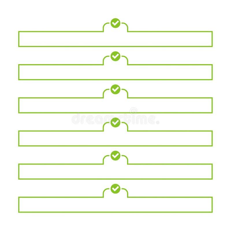 per fare vettore della lista illustrazione di stock
