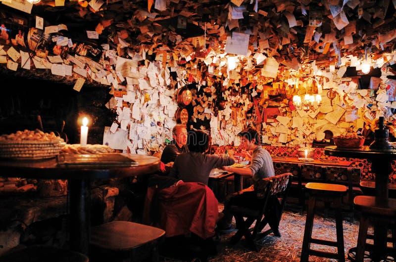 Per il pub di vendita, Budapest, UNGHERIA fotografie stock