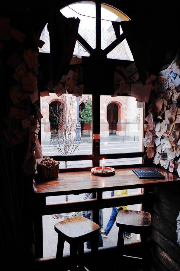 Per il pub di vendita, Budapest, UNGHERIA fotografia stock libera da diritti
