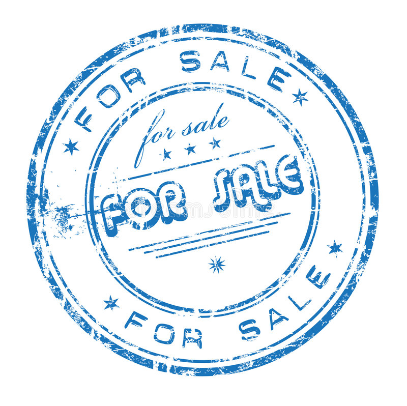 Per il timbro di gomma di vendita illustrazione vettoriale