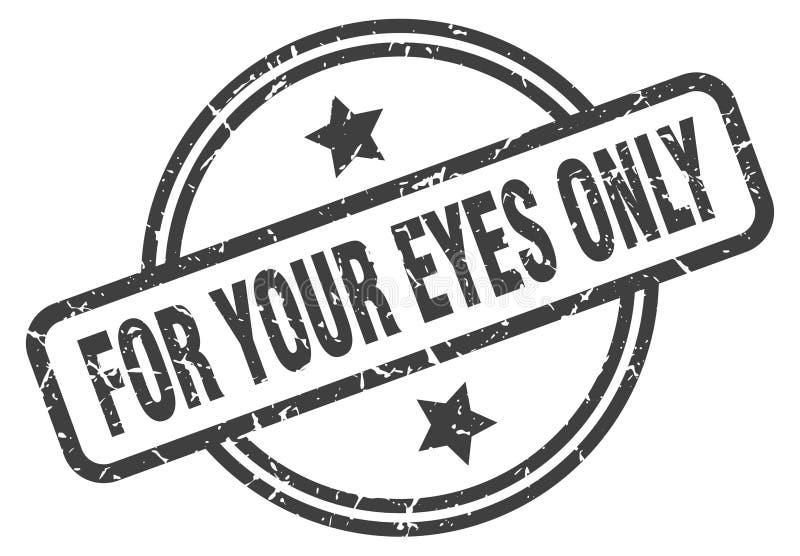Per il vostro bollo degli occhi soltanto illustrazione di stock