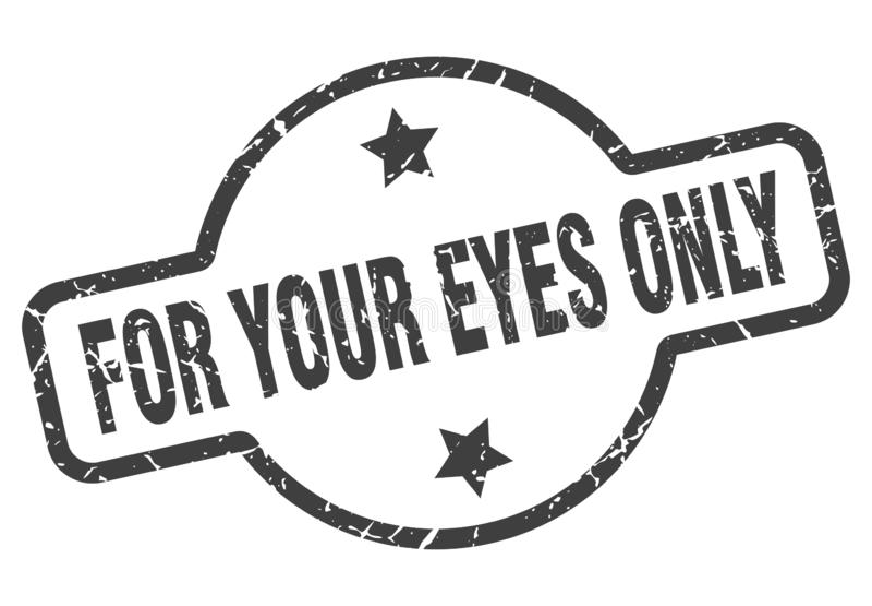 Per il vostro bollo degli occhi soltanto illustrazione vettoriale