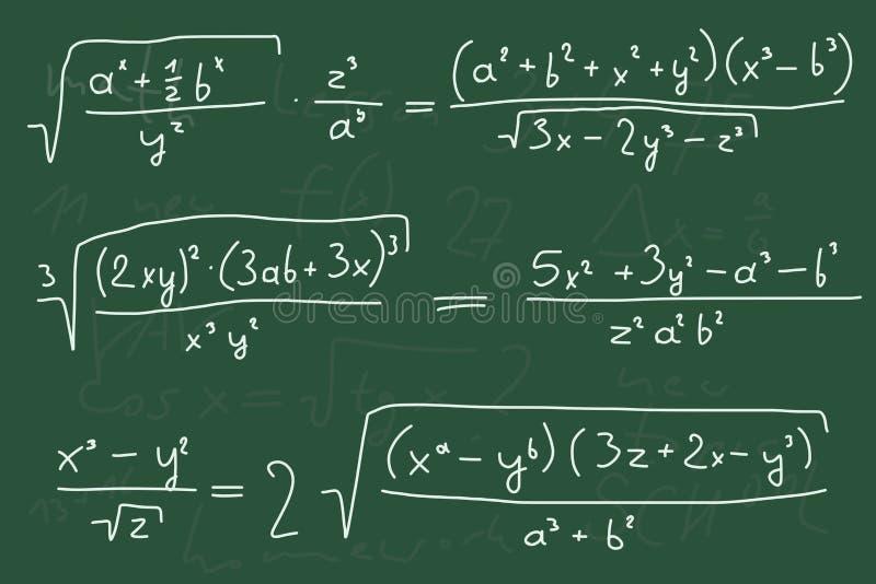 Per la matematica illustrazione di stock