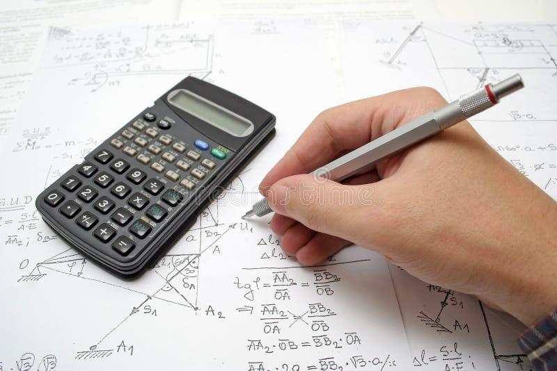 Per la matematica fotografie stock libere da diritti