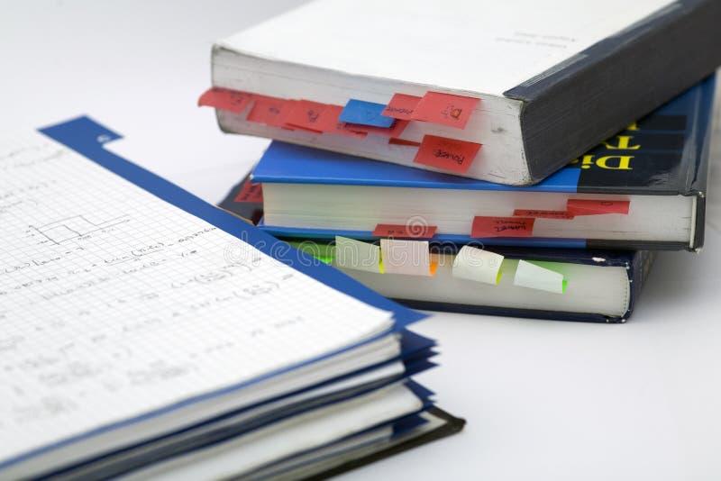 Per la matematica avanzato e libro immagini stock
