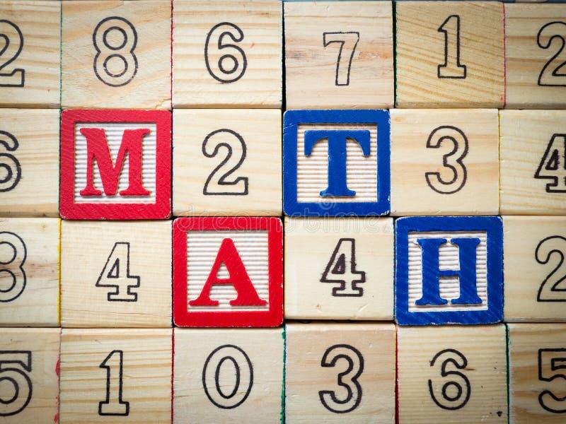 Per la matematica e numeri fotografia stock