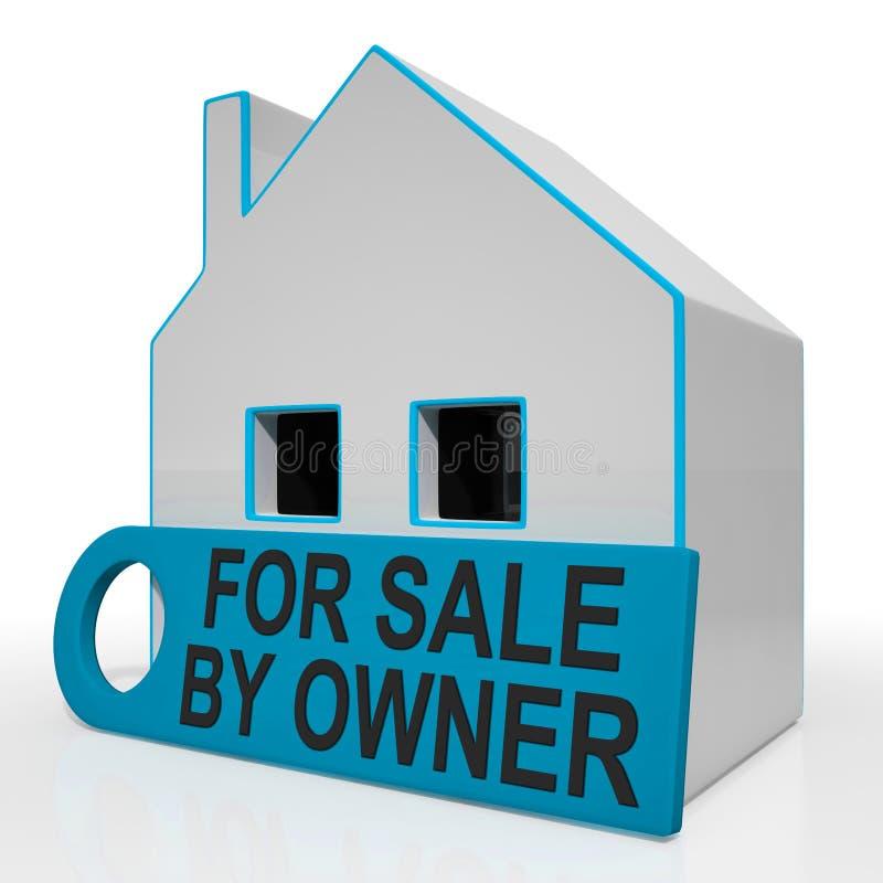 Per la vendita dal proprietario la Camera non significa agente immobiliare illustrazione di stock