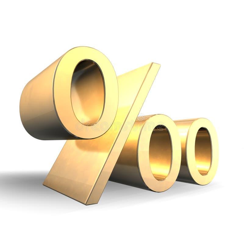 Download Per Mille Gold 3d stock illustration. Illustration of offer - 11297273