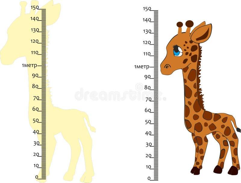 per misurare crescita, metro sulla parete royalty illustrazione gratis