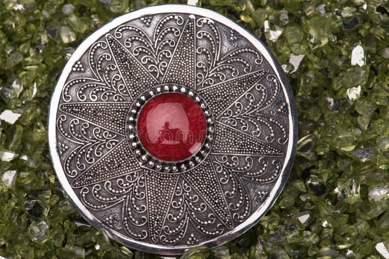 Perônio de prata fotografia de stock royalty free