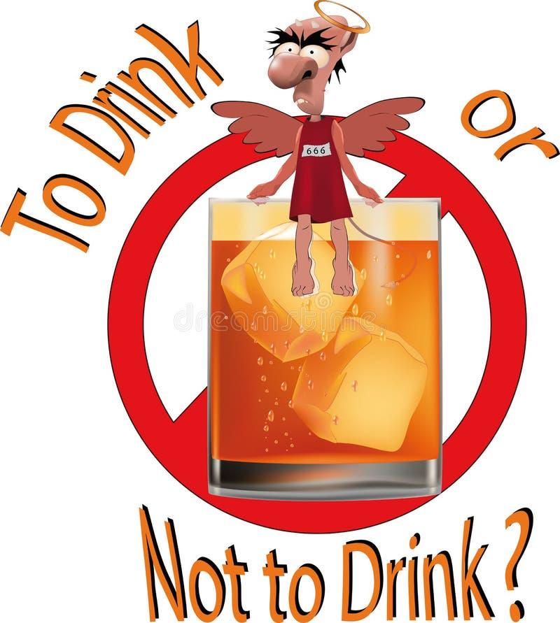Per per bere o non bere? royalty illustrazione gratis