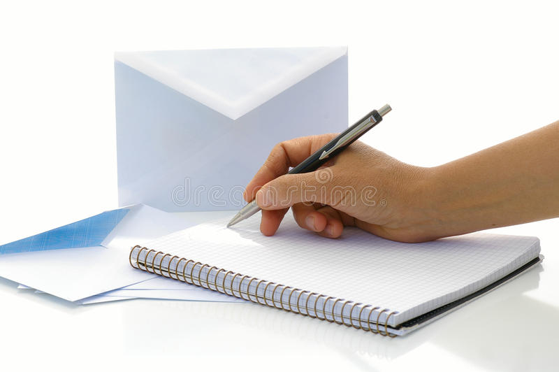 Per per scrivere la lettera fotografia stock