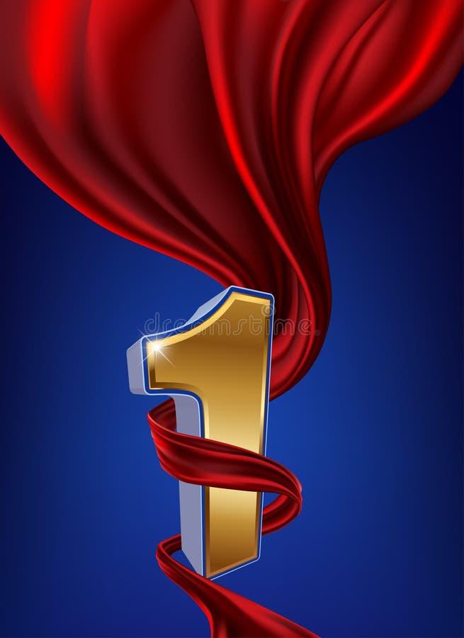 Bobina rossa del nastro illustrazione di stock