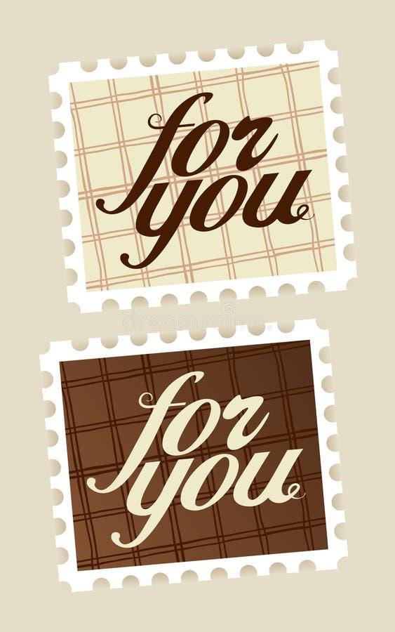 Per voi francobolli. illustrazione vettoriale